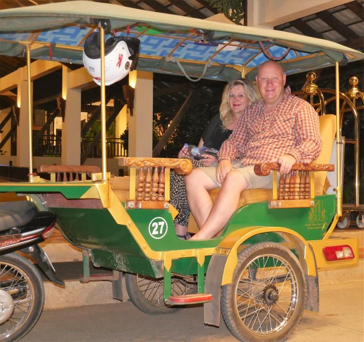 Tuk tuk rides around Angkor Wat