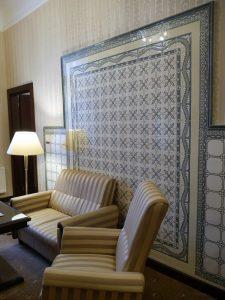 Guest room showing original 19th century tiles - Nové Lázně