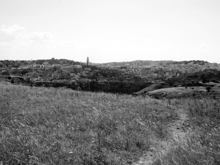 The Sassi of Matera from across la Gravina